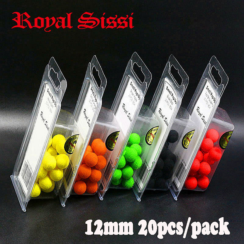 20pcs/pack smell Pop ups Carp Fishing bait Boilies/5Flavors 12mm Floating ball beads feeder Artificial Carp baits lure/ hair rig 1 pack clean dry maggots for fishing high protein nutritious fish bait food winter carp fishing baits