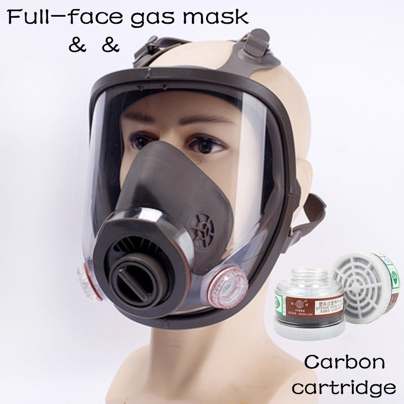 New Item Gas Mask Painting Spraying Full-face Respirator With Organic Gas Filter Activated Carbon Chemical Safety Free Shipping