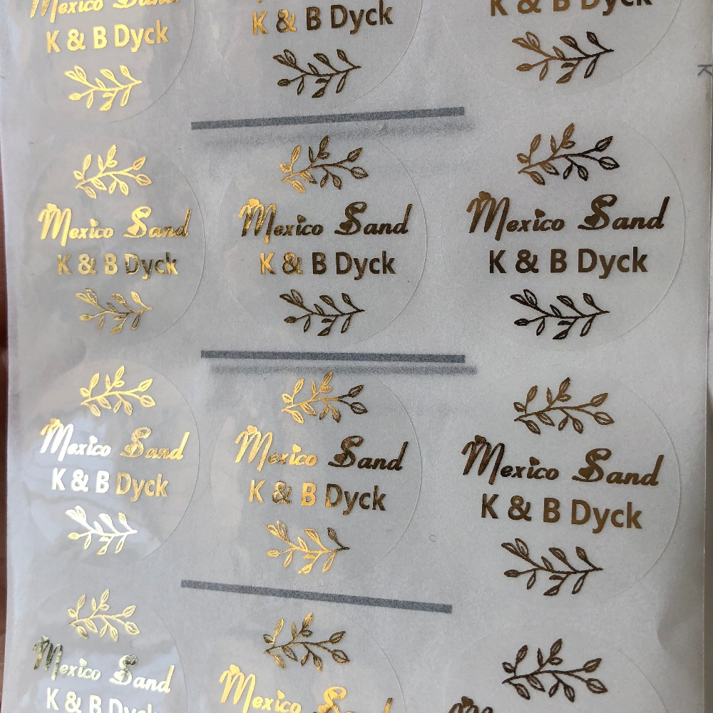 Us 15 8 7 Off 90 Personalized Wedding Invitations Seal Stickers Foil Gold Favor Waterproof Transpa Labels In Party Favors From