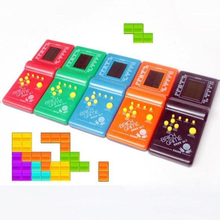 Classic Handheld Game Machine Tetris Brick Kids Toy with Music Playback without Battery
