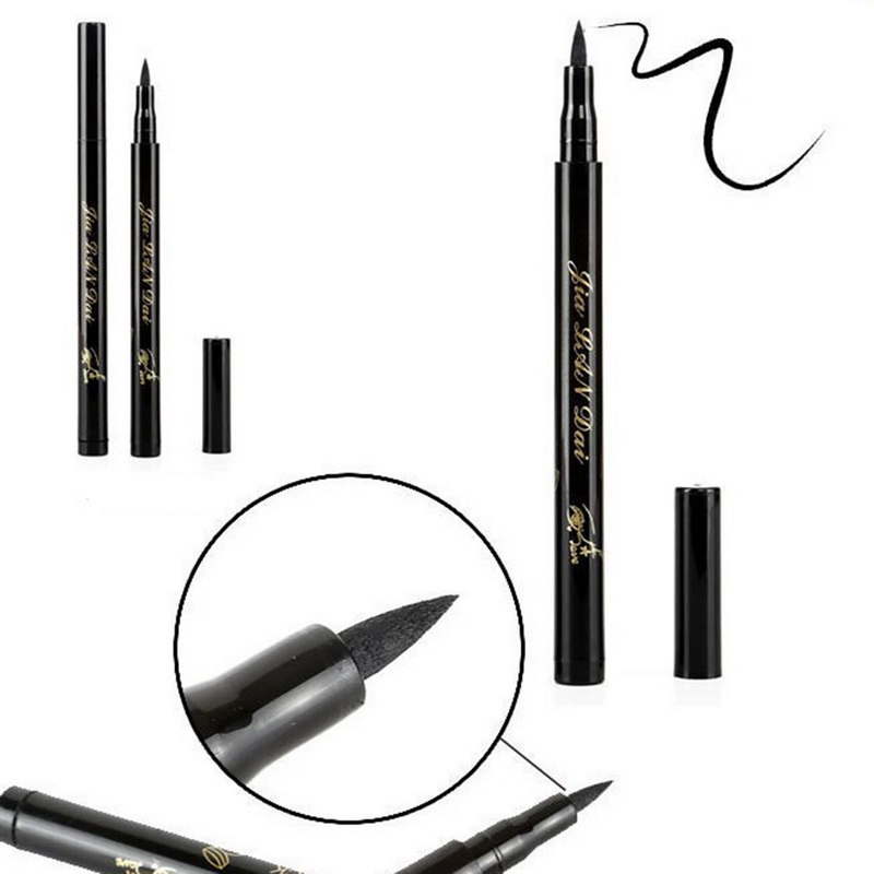 Eyeliner Manooby Hot Quick Dry Eye Liner Pencil Cosmetics Tool For Women Seal Liquid Black Eyeliner Waterproof Long-lasting Cosmetics Beauty Essentials