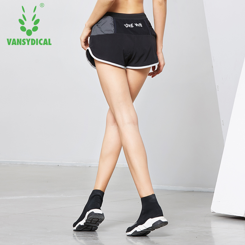 Women s Elastic Waist Running Shorts Breathable font b Fitness b font Jogging Gym Shorts Female