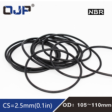 10x Oil Resistant NBR Nitrile Butadiene Rubber 2.5mm O-Ring Sealing Ring 10-55mm