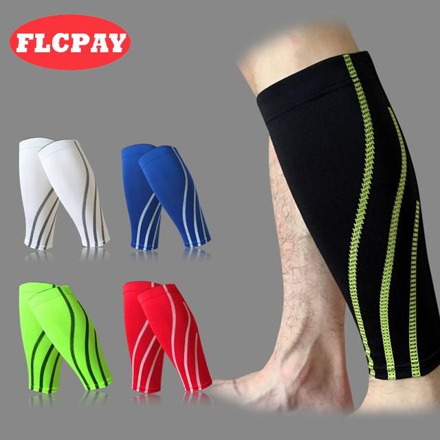 efb513b0f6 1 PCS Basketball Football Leg Sleeves Calf Compression Outdoor Sport  Running Cycling Shin Guards UV-Protector Soccer Protector