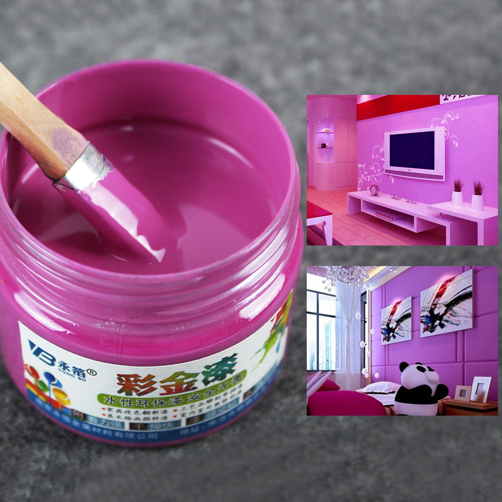 Us 7 6 24 Off One Bottle Bright Violet Paint 100 G Metal Lacquer Wood Paint Tasteless Water Based Paint Can Be Applied On Any Surface In Paint