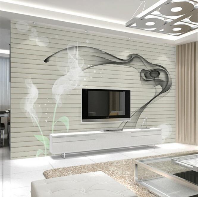 Home improvement modern 3d smoke fog art wallpaper wall for Wallpaper home improvement