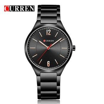 Curren 8280 hombres 2018 nuevo reloj de lujo de moda reloj de acero inoxidable para hombre de cuarzo reloj de pulsera analógico
