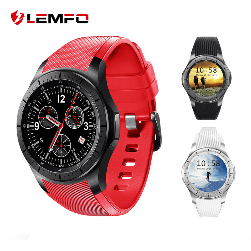 imágenes para LEMFO LF16 Reloj Teléfono Inteligente Android 5.1 OS 1.39 pulgadas 8 GB + 512 MB Apoyo WIFI GPS Nano Tarjeta SIM Reloj Inteligente Inteligente pulsera