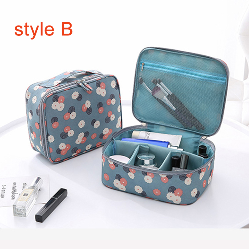 2018 New Handle Zipper Women Makeup Bags Big Capacity Travel Cosmetic Beauty Case Make Up Organizer Toiletry Bag kits Wash Pouch