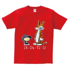Funny Cool Calvin and Hobbes Cartoon Boys girls T Shirt Tops Tee Casual pride t shirt Unisex kids New Fashion tops 2-15Y  N
