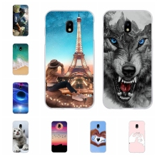 For Samsung Galaxy J3 2017 J330F Case Soft Silicone Pro Cover Animal Pattern Bag