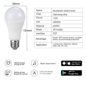 Image 2 - Rgbw rgbww sem fio luz noturna rgb lâmpada 15w 10 5w AC85 265V inteligente lâmpada/luz bluetooth app ou ir controle remoto noite lâmpada
