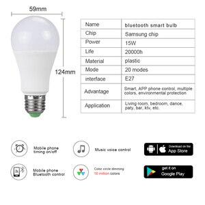 Image 2 - Wireless RGBW RGBWW Night Light RGB Bulb 15W 10W 5W AC85 265V Smart Bulb/Light Bluetooth APP or IR Remote Control Night Lamp