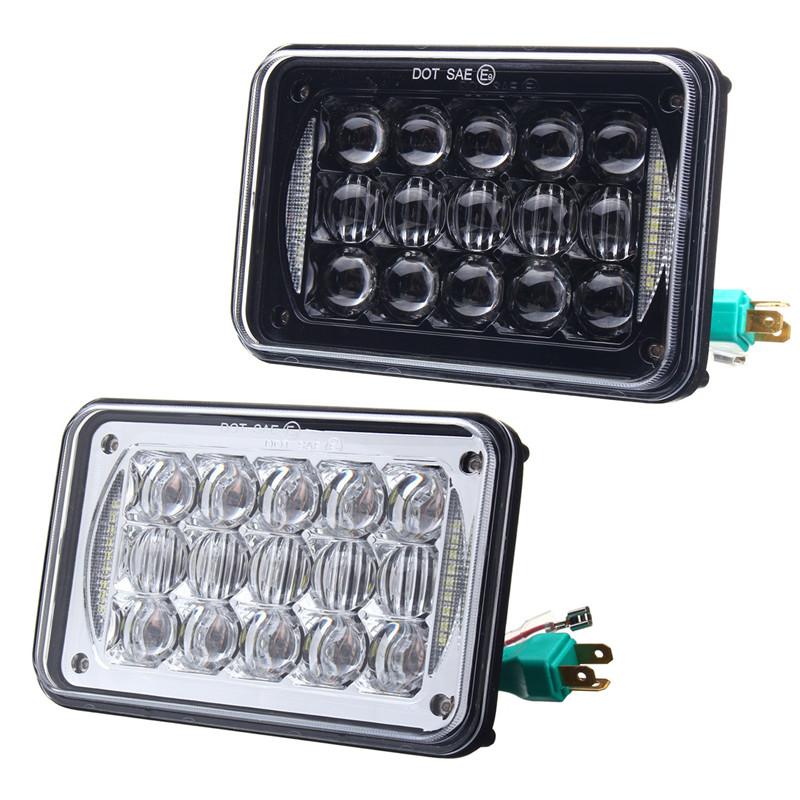 2pcs 4X6 5D 48W LED Car Headlight Light Lamp Bulb Hi/Low Beam Headlamp DRL For SUV Truck DC10-30V Waterproof IP67 12v led light auto headlamp h1 h3 h7 9005 9004 9007 h4 h15 car led headlight bulb 30w high single dual beam white light