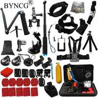 BYNCG para Go Pro Accesorios GoPro Hero 6543 Kit de Montaje Wifi SJ4000 SJCAM Xiaomi Yi 4 K Eken H9 Gitup Git2 Pro Cámara de Acción
