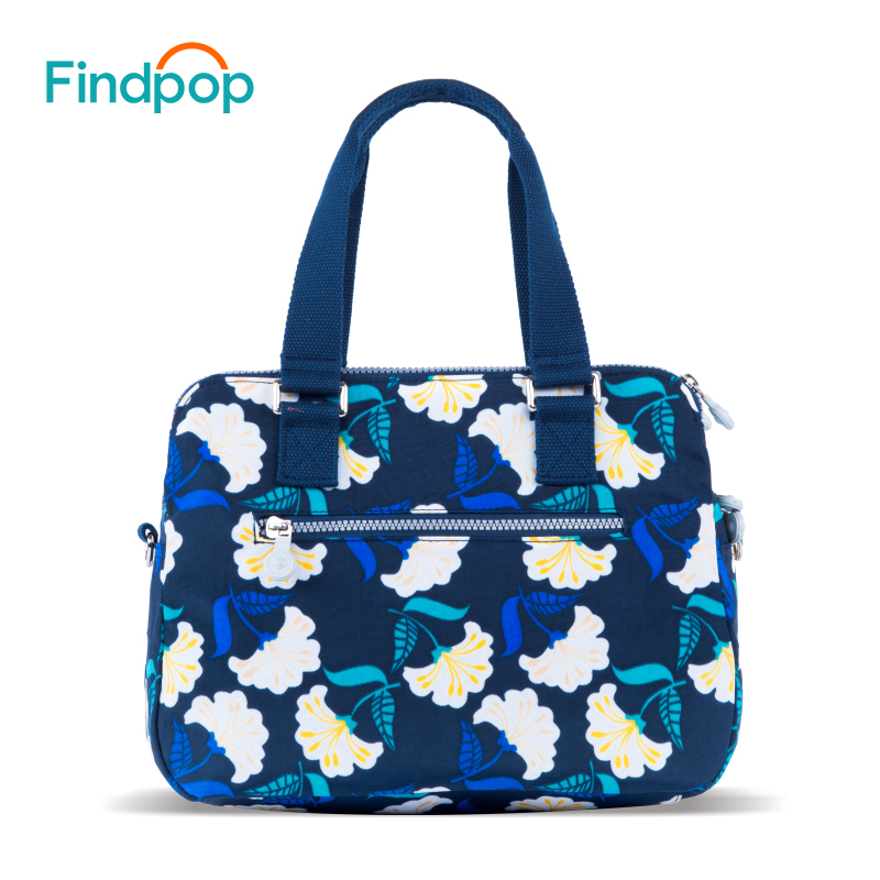 Findpop Flowers Printing Handbags Women 2018 New Fashion Totes For Women Crossbody Bag Large Capacity Waterproof Nylon Tote Bags-in Top-Handle Bags from Luggage & Bags    3