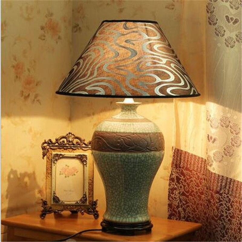 China style handmade vintage elegant ceramic fabric led - Elegant table lamps for living room ...