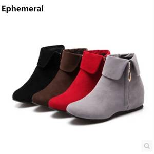 Ephemeral High Boots Heels Ankle Booties Ladies Shoes 8891a7a2602c