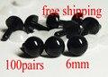 Free Shipping!! 6mm black Safety eyes amigurumi eyes doll eyes/ Needle felting doll plastic eyes---100pairs