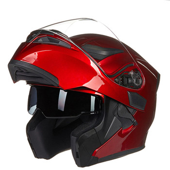 New Arrival JIEKAI 902 flip up double lens motorcycle helmet removable and washable liner Aerodynamic design modular helmet