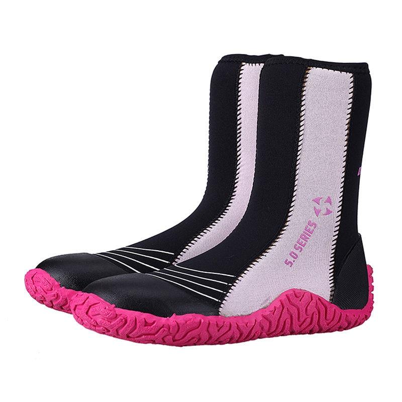 5mm Men Women Neoprene Zipper Wetsuit Boots For Surfing Kayaking Sailing Jetski Aqua Sand Socks Neoprensocken Beach Shoes Water