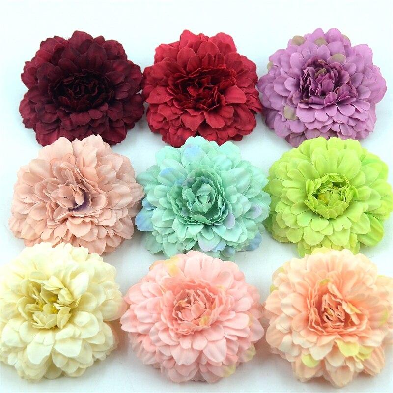 50 шт., искусственные цветы для украшения дома, свадьбы, скрапбукинга