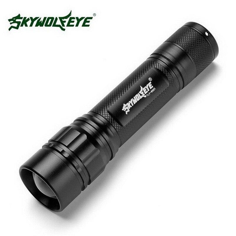 Черный xm-l T6 3000 люмен 3 режима светодиодный фонарик Масштабируемые светодиодный фонарик Алюминий сплав Torch Light для 18650 Перезаряжаемые Батарея