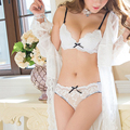 Ladies Secret New Fashion sexy push up underwire bra lace set underwear top design thin cup Triangle Women Bra Panties Sets