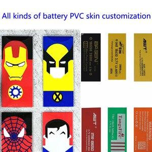 Dostosowane produkty 18650 bateria pvc ciepła rękaw kurczliwy baterii skóry kurczą się folia izolacyjna