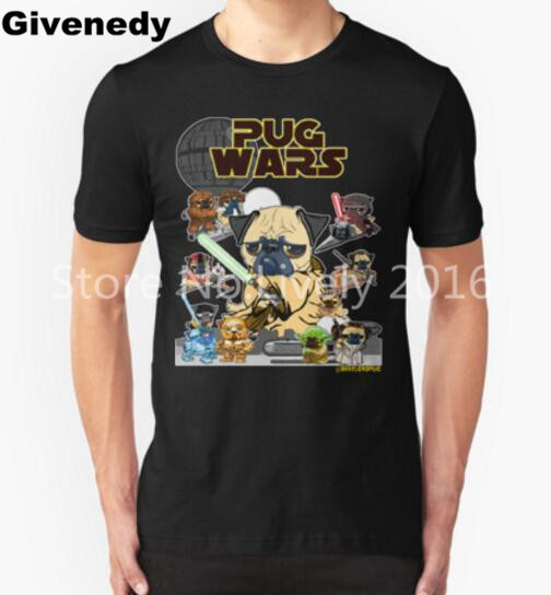 New PUG WARS T Shirt Men star war Short Sleeve Casual t-shirt Men Rock Boy Tops Camisetas