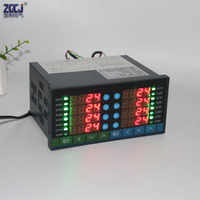 8 channels digital thermostat Multifuncion 8 ways temperature controller measure multi points can connect with 8 sensors