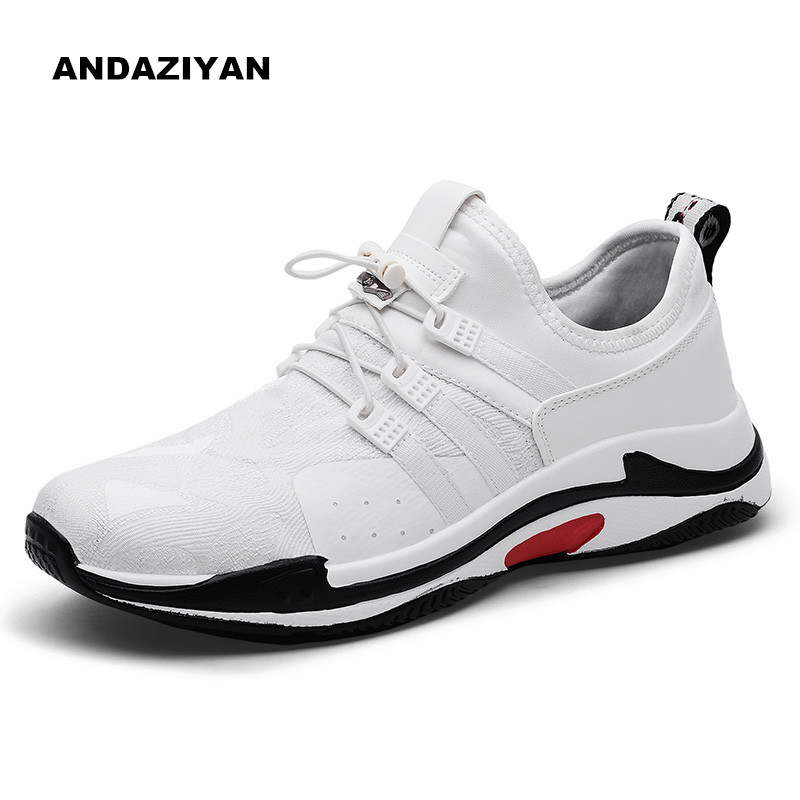 Super fire men's shoes Korean version of the trend of the summer mesh breathable wild white shoes men Breathable soft non slip s