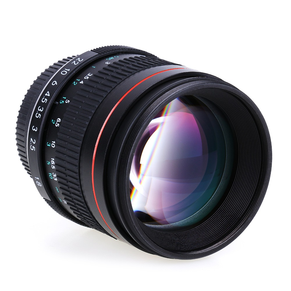 85mm prime Portrait Lenses Manual F1.8 Aperture Camera Lens for canon EOS 5D digital SLR Cameras 85mm f1 8 aluminum alloy manual focus lens set for canon black