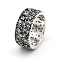 925 Sterling Silver Shimmering Leaves Ring Compatible With European Famous Brand Jewelry For Women