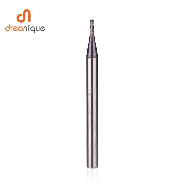 1pc ball nose end mill 2 flutes R0.5-R6.0 cnc end milling cutter for metal face and slot machining hrc50 coated end mills 3