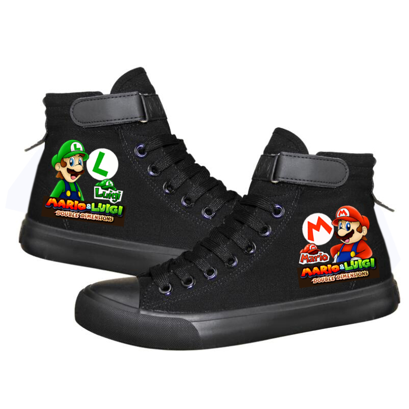 Game Super Mario Women Men Sneakers Canvas Shoes For Teenagers Sneakers Men Women Causal Shoes Cartoon Printing Leisure Shoes
