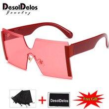 Квадратный женские крупные солнцезащитные очки модные оправы Солнцезащитные очки для девушек, Брендовая Дизайнерская обувь Винтаж очки Gafas Oculos de sol feminino UV400