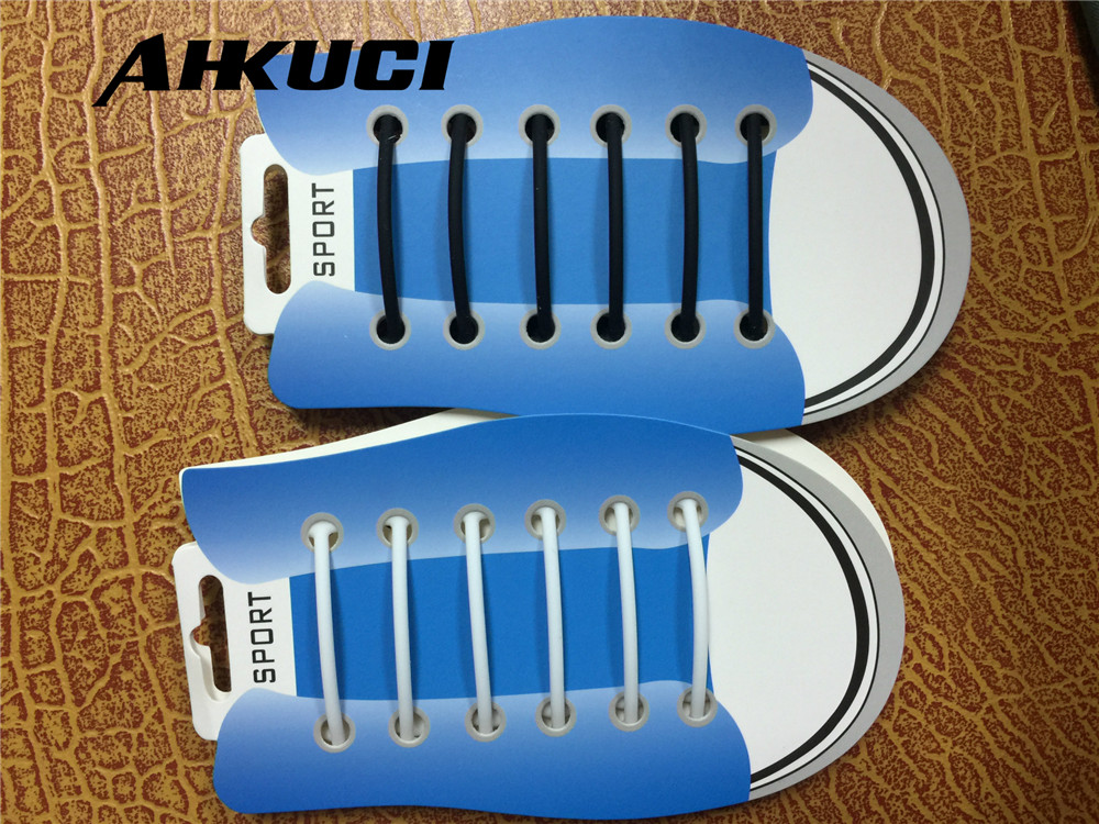 15pcs 6cm Silicone Lazy No Tie Shoelaces T Type Straight Black and White  Shoe Laces Mules Clogs Running Sneakers Strings