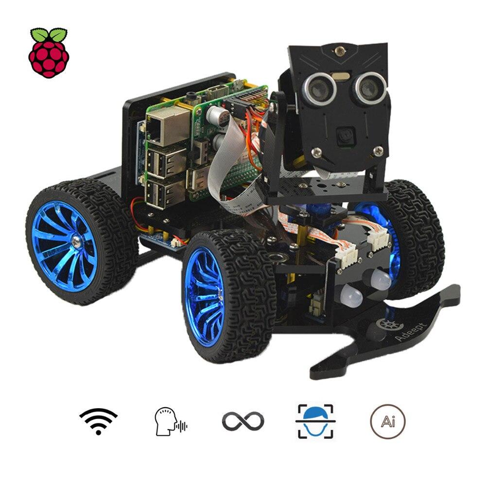 Mars Rover Adeept PiCar-B 3 Wi-fi Sem Fio Inteligente Robot Car Kit para Raspberry Pi Modelo B +/ b/2B, o Reconhecimento de voz, OpenCV Alvo