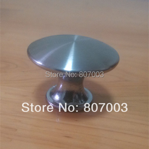Diameter 30mm 20pcs/lot Stainless steel Satin Knob Pull Handle Kitchen Cabinet Hardware free shipping - S mini stainless steel handle cuticle fork silver