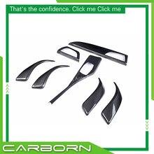 Garniture intérieure en Fiber de carbone, accessoire pour BMW série 1, F20, 116i, 118i, 120i, M135i Style B, Version 12-16, 7pcs-LHD