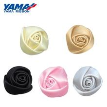 YAMA Single Face Satin Ribbon Bud Rose Diameter 15mm±5mm 200pcs/bag for Girl Dress Gift Flower Diy Toy Wedding Decoration