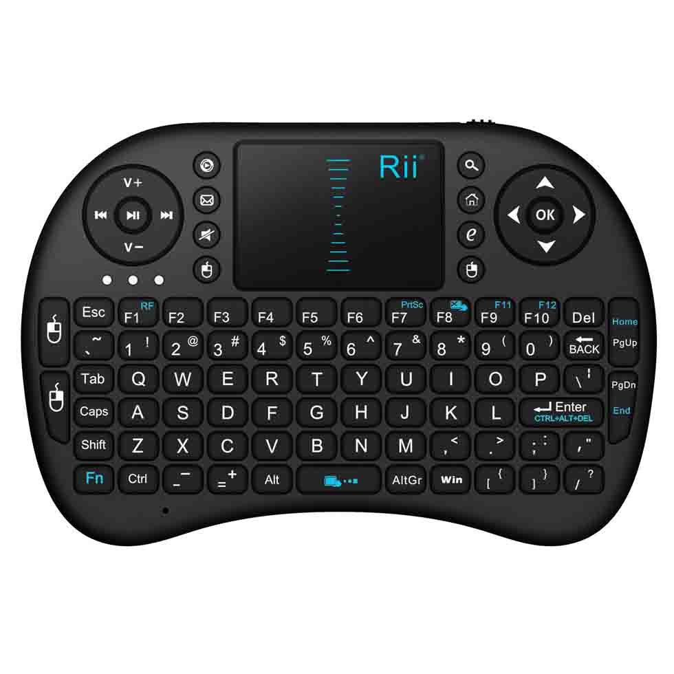 Rii I8 Russian Wireless Mini Keyboard Lithium Battery Air Mouse Remote Control With Touchpad For Mini PC, TV Box