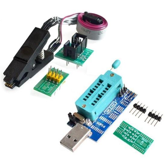 SOIC8 SOP8 Test Clip For EEPROM 93CXX / 25CXX / 24CXX + MX25L6405 W25Q64 USB Programmer LCD Burner CH341A Progammer