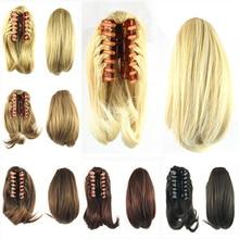 Soowee волосы конские хвосты с зажимом пучок волос Синтетический Коготь накладные волосы конский хвост наращивание волос головной убор для женщин парики-Женский