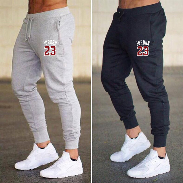 70412a9f83b 2019 New Men Joggers Brand Male Trousers Jordan 23 Casual Pants Sweatpants  Men Gym Muscle Fitness Workout hip hop Elastic Pants-in Skinny Pants from  Men's ...