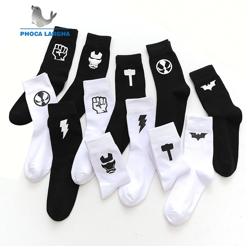 Marvel Comics Hero   Socks   DC Cartoon Knee-High Warm Solid Color Pattern Anti Skid Casual Cotton   Socks   Men Women