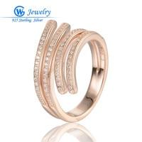 Gw schmuck rose gold ringe 925 sterling silber european brand frauen mädchen weiß zirkonium ringe hochzeit schmuck ripy037h20
