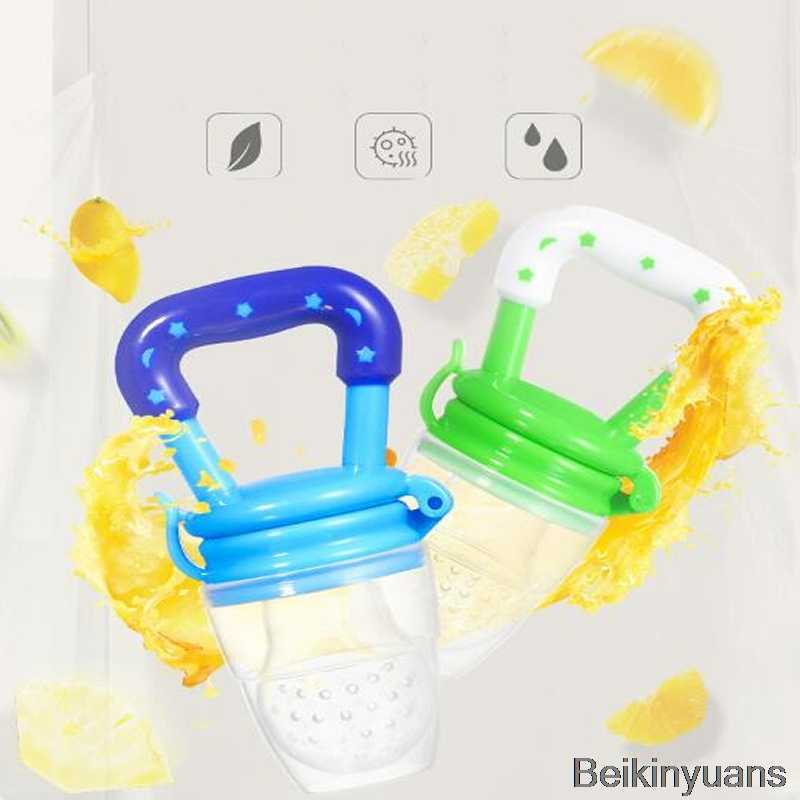 Baby silicone pacifier baby pacifier child children fruit feeder nipple bottle baby food supplement