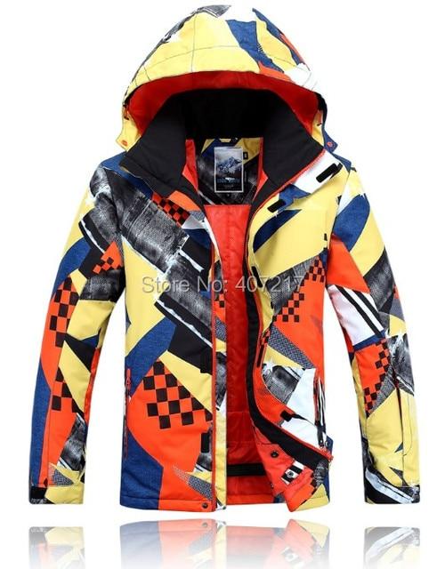 d965b491cf 2017 mens ski jacket yellow orange snowboarding jacket for men warm snow  coat skiwear mountaineering jacket